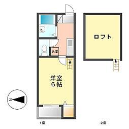 オアゾ浅間(OAZO浅間)[2階]の間取り