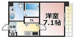 JPレジデンス大阪城東II 9階1Kの間取り