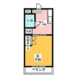 ハイツ栄光II[3階]の間取り
