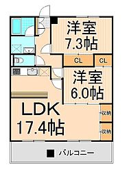東京都足立区南花畑3丁目の賃貸マンションの間取り