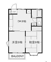 プラトー新ゆり[1階]の間取り