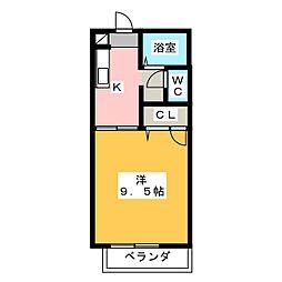 グレイスハイム[1階]の間取り