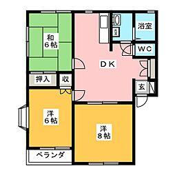 サンハイツ西高崎 I棟[2階]の間取り