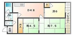 パレ・ロワイヤル[4階]の間取り