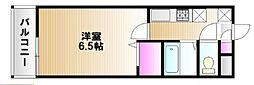 JR山陽本線 西川原駅 徒歩24分の賃貸アパート 2階1Kの間取り