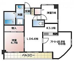 トラントメゾン[2階]の間取り