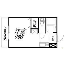 静岡県浜松市中区住吉4丁目の賃貸アパートの間取り