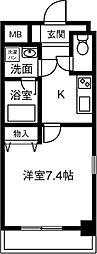 仮)プリミエール鳥居松II[406号室]の間取り