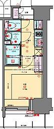 プレサンス兵庫駅前 3階1Kの間取り