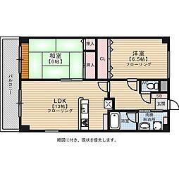 マリラックス室見[5階]の間取り