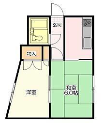 フォレストイン八幡A[2階]の間取り