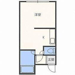 北海道札幌市東区北三十八条東1丁目の賃貸マンションの間取り