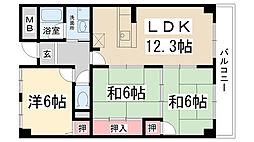 兵庫県伊丹市藤ノ木2丁目の賃貸マンションの間取り
