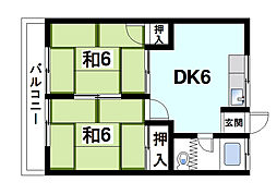 コーワマンション[2階]の間取り