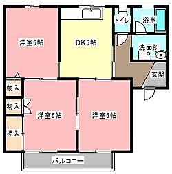 ホンゴーハイム[2階]の間取り