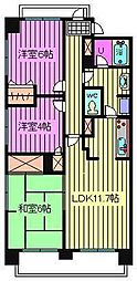 武蔵浦和パーク・ホームズ[9階]の間取り