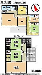 6DK事務所、土地面積340平方メートル(約102.85坪)、建物面積216.54平方メートル(約65.50坪)