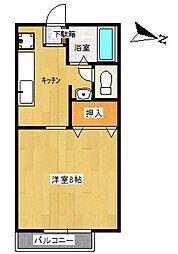 TUハイツ K[B108号室]の間取り