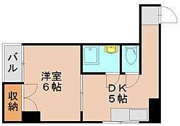 東公園マンション[6階]の間取り