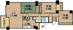 佐鳴湖パークタウン12号棟[5階]の間取り