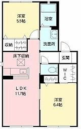 シャーメゾン吉田 B棟[1階]の間取り