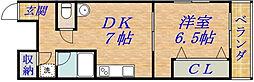 杉本ハイツ[1階]の間取り