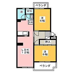 シティハウスマキ[3階]の間取り