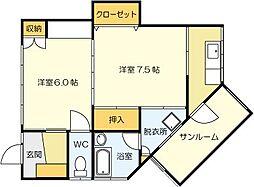 [一戸建] 福岡県北九州市小倉南区北方1丁目 の賃貸【/】の間取り