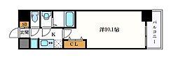 名古屋市営桜通線 久屋大通駅 徒歩7分の賃貸マンション 7階1Kの間取り