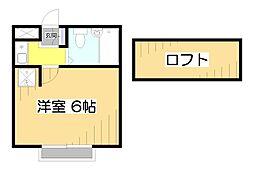 プラザ・ドゥ・アヴァン[2階]の間取り