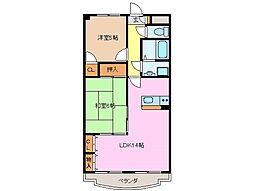 ルミエール三雲[2階]の間取り