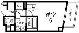 プリムローズ・HY2[401号室号室]の間取り