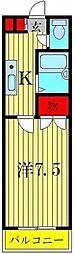 ホーマット青戸[3階]の間取り