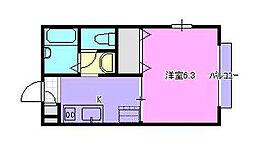 第1山田ハイツ[201号室]の間取り