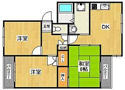 ライフティ甲子園[1階]の間取り