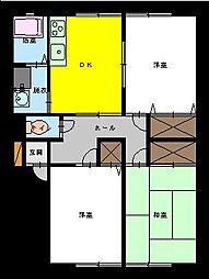 茨城県坂東市みどり町の賃貸アパートの間取り