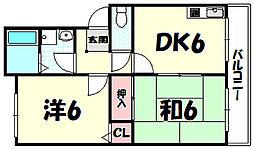 ロイヤルコート六甲[3階]の間取り