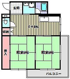 プレアール藤沢台[1階]の間取り