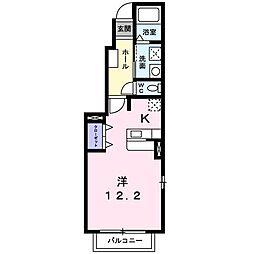 KUREMATHISS B[1階]の間取り