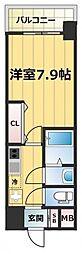 JR大阪環状線 森ノ宮駅 徒歩7分の賃貸マンション 6階1Kの間取り