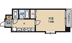 シャインビュー新大阪[6階]の間取り