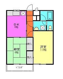 新倉ハイツ[2階]の間取り