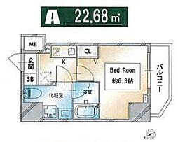 都営三田線 西巣鴨駅 徒歩3分の賃貸マンション 7階1Kの間取り
