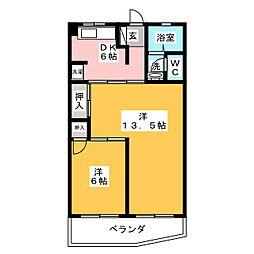 京源ハイツ[3階]の間取り