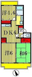 松戸ハイツ[5階]の間取り