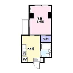 プラス1USHIO[301号室]の間取り