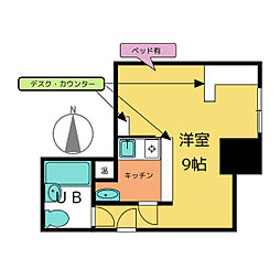 ライオンズホテル名古屋ビル[4階]の間取り