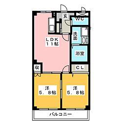 アイダイトクII[2階]の間取り