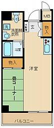 サンロワール和泉砂川[1階]の間取り