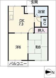 クレールハイツⅠ[1階]の間取り